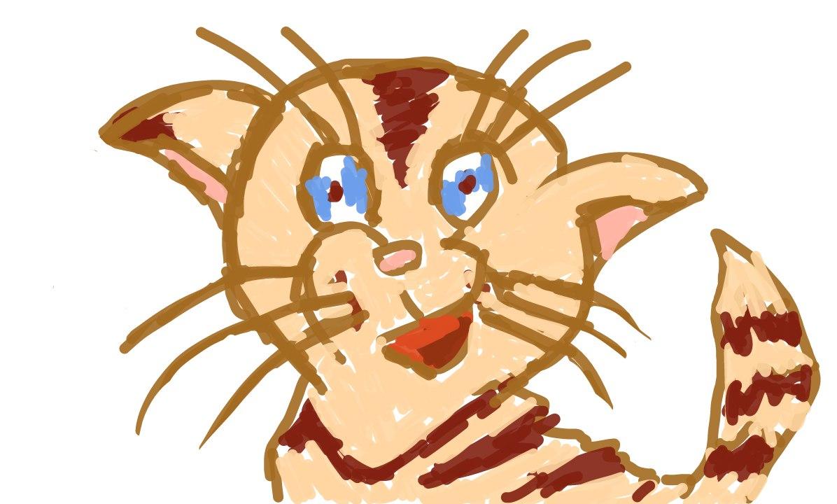 Цветной котик